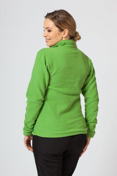 bluzy-polarowe-damskie Dámska flísová mikina světlo zelená