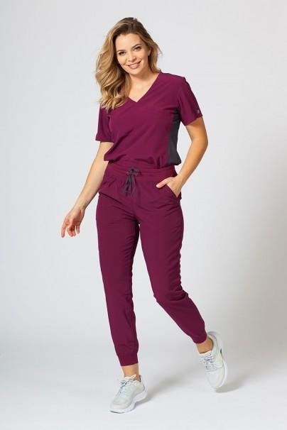 bluzy-medyczne-damskie Dámská blúzka Maevn Matrix Impulse Asymetric čerešňová červená