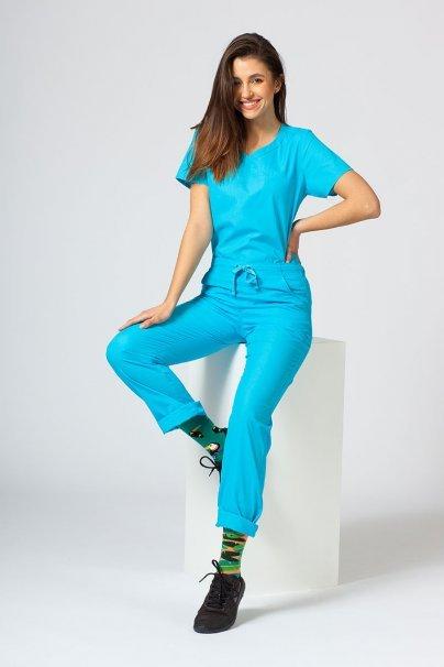 spodnie-medyczne-damskie Lékařské kalhoty Maevn Red Panda tyrkysové