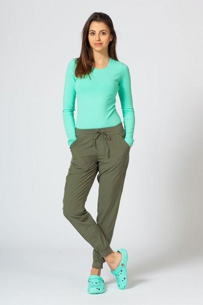 kalhoty-1-1 Dámské nohavice Maevn Matrix Impulse Jogger olivkové