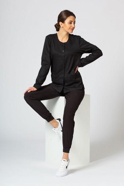 bluzy-medyczne-damskie Dámska blúzka na zapínanie Maevn Matrix čierna