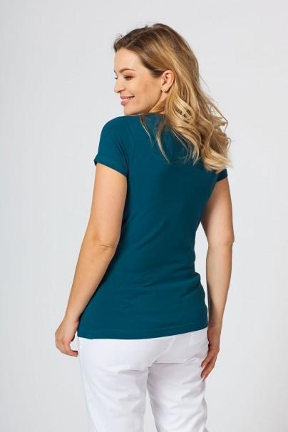 tricka-2 Dámske tričko Malfini s krátkym rukávom karaibsky modrá