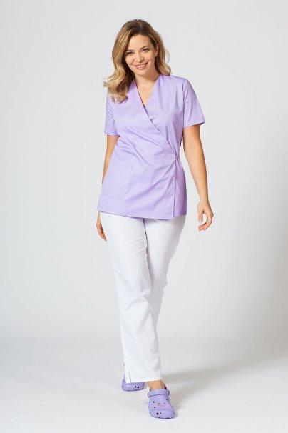 bluzy-medyczne-damskie Zástěra/blúzka dámská s vázáním Sunrise Uniforms lavandulová