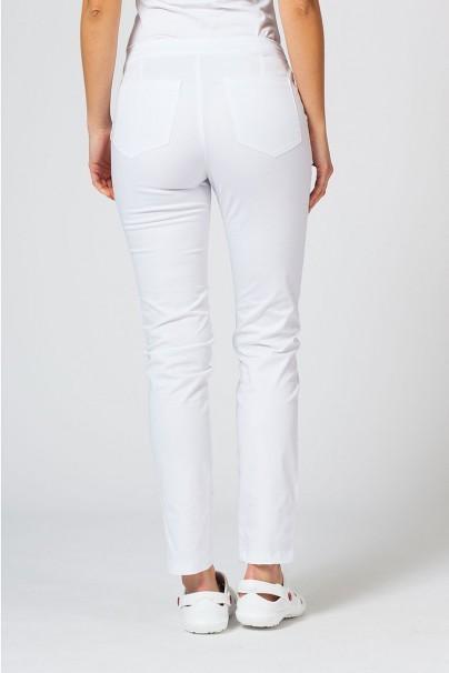 kalhoty-1-1 Dámske lekárske nohavice Sunrise Uniforms Slim (elastické) biele