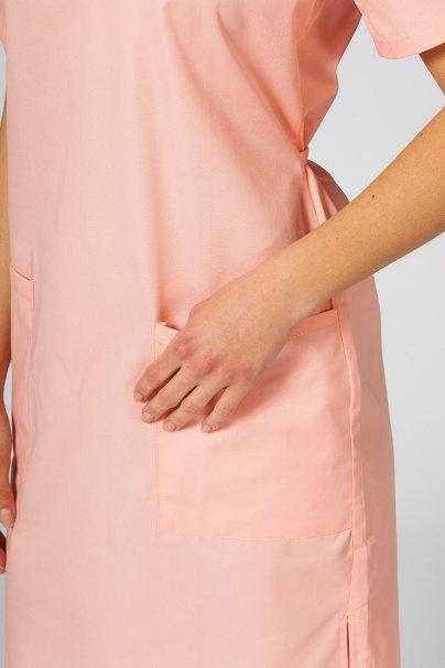 saty-1 Lékarské jednoduché šaty Sunrise Uniforms lososové