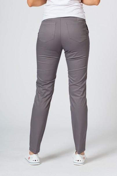 kalhoty-1-1 Dámske lekárske nohavice Sunrise Uniforms Slim (elastické) šedé
