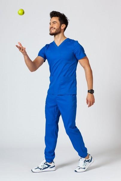 bluzy-1-1 Pánská lékařská blúzka Maevn Matrix Men kráľovská modrá