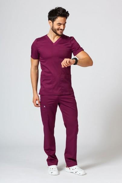 bluzy-1-1 Pánská lékařská blúzka Maevn Matrix Men čerešňová červená