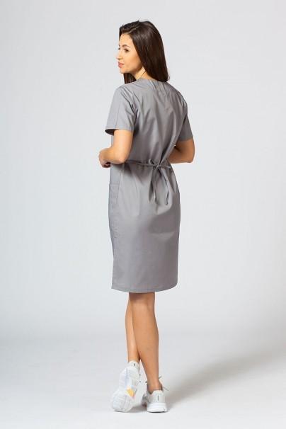saty-1 Lékarské Jednoduché šaty Sunrise Uniforms šedé