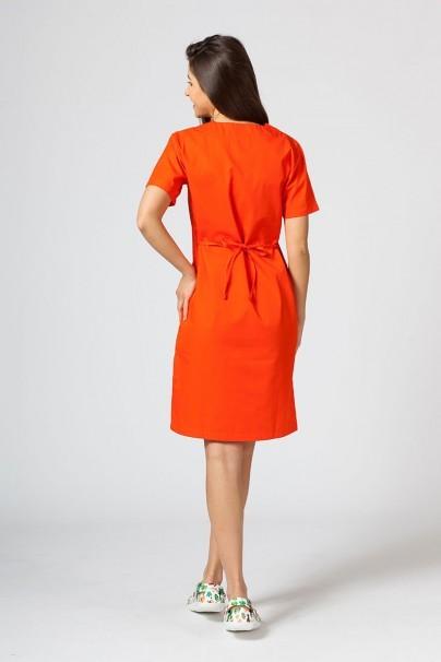 saty-1 Lékarské Jednoduché šaty Sunrise Uniforms oranžové