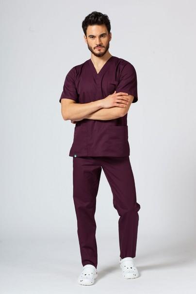 bluzy-1-1 Univerzálna lekárska blúzka Sunrise Uniforms burgundová