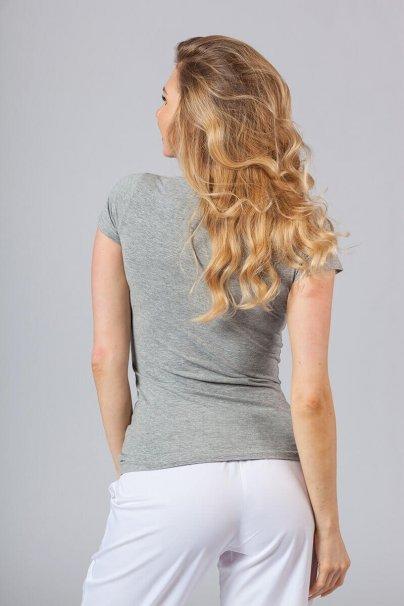 koszulki-medyczne-damskie Dámske tričko s krátkym rukávom šedá