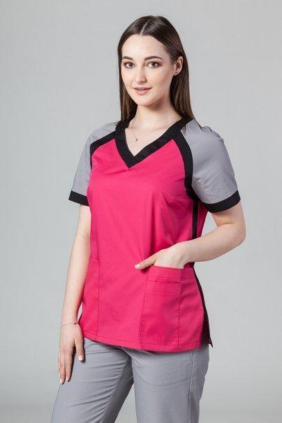 komplety-medyczne-damskie Zdravotnický komplet Sunrise Uniforms malinový (s halenou Active)