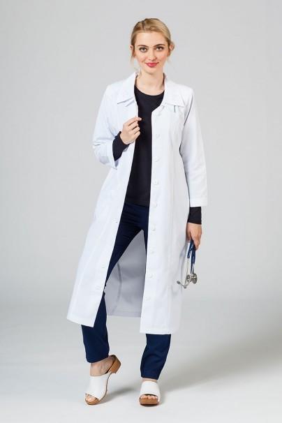 saty-1 Dámske zdravotné šaty Adar Uniforms Collar biele