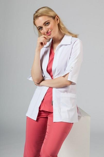 plaste-2 Dámsky lekársky plášť Maevn Smart Classic biely (elastický)