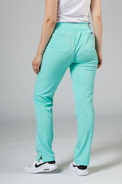 kalhoty-1-1 Dámske nohavice Adar Uniforms Leg Yoga aqua
