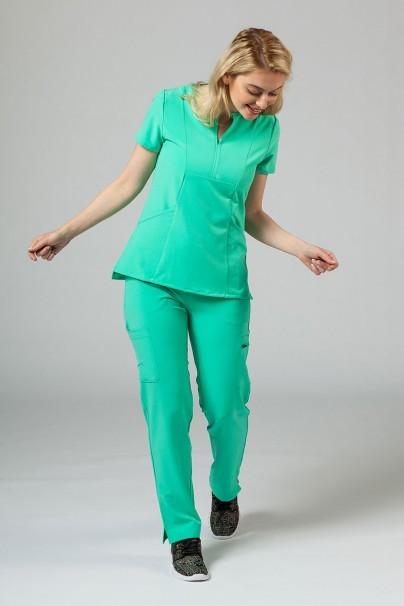bluzy-2 Dámska blúzka Adar Uniforms Notched světlo zelená