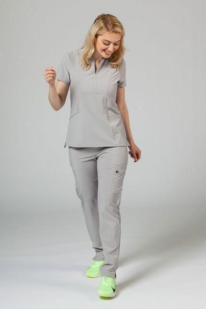 bluzy-medyczne-damskie Dámska blúzka Adar Uniforms Notched světlo šedá