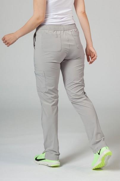 kalhoty-1-1 Dámske nohavice Adar Uniforms Skinny Leg Cargo svetlo šedé