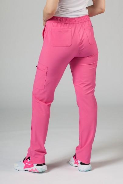 kalhoty-1-1 Dámske nohavice Adar Uniforms Skinny Leg Cargo ružové
