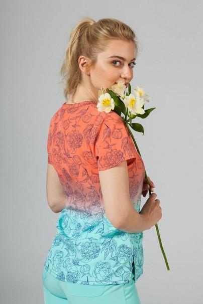 vzorovane-haleny Lékarská blúzka Maevn Prints slnečné kvety