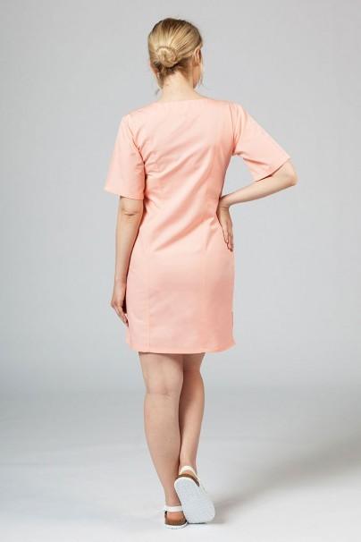 saty-1 Lekárske klasické šaty Sunrise Uniforms lososové