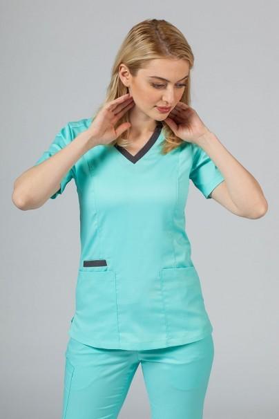 bluzy-2 Lékařská blúzka Maevn Matrix mátová (aruba)