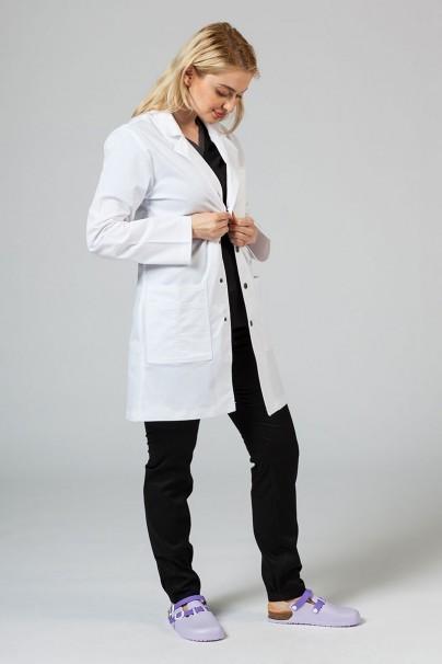 plaste-2 Lekársky plášť Adar Uniforms Snap biely (elastický)