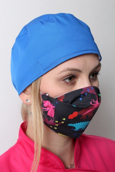 maski-ochronne Ochranná rouška pro opakované použití se stříbrnými ionty, 2 vrstvá, 100% bavlna, vzor: dinosauři