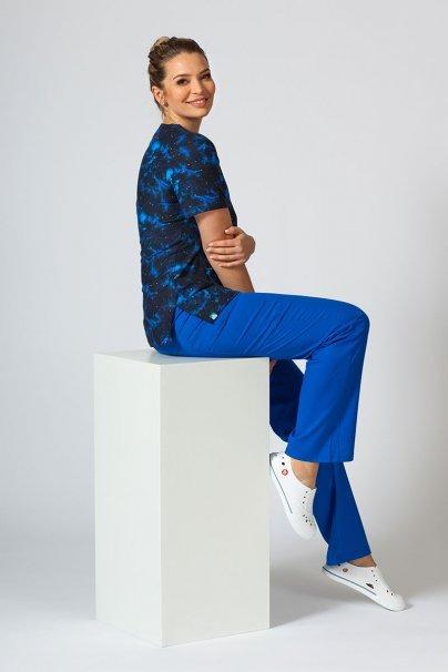 vzorovane-haleny Farebná lekárska blúzka Sunrise Uniforms pre ženy nebo a hviezdy