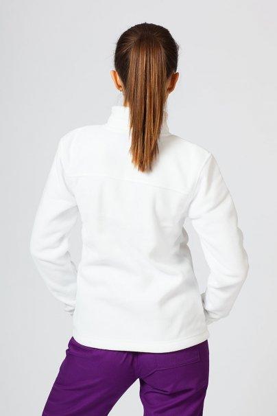 bluzy-polarowe-damskie Dámská zateplená mikina Bílá