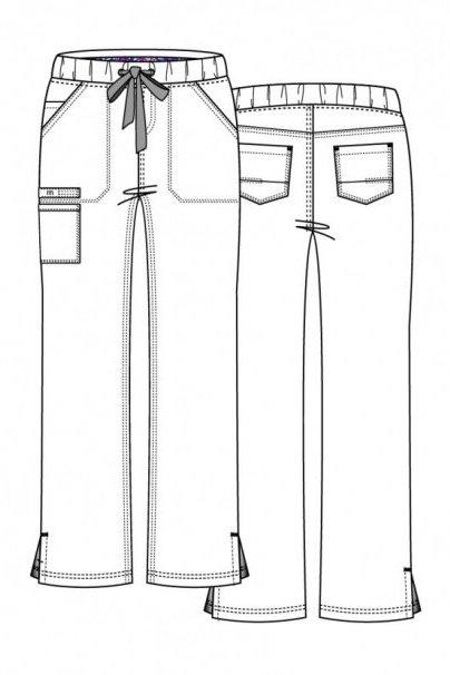 spodnie-medyczne-damskie Lékařské nohavice Maevn PrimaFlex biele