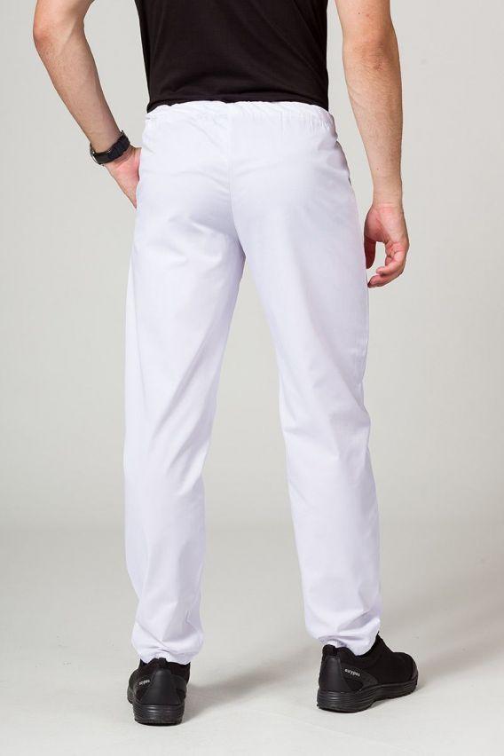 spodnie-medyczne-meskie Univerzální lékarské nohavice Sunrise Uniforms biele