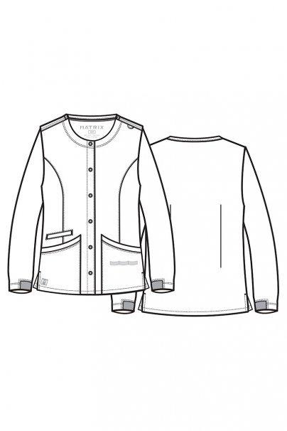 bluzy-medyczne-damskie Dámska blúza na zapínanie Maevn Matrix šedá