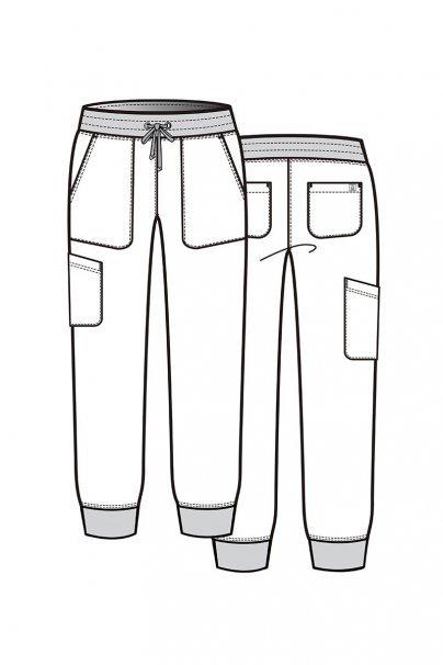 spodnie-medyczne-damskie Dámské kalhoty Maevn Matrix Impulse Jogger karibsky modré