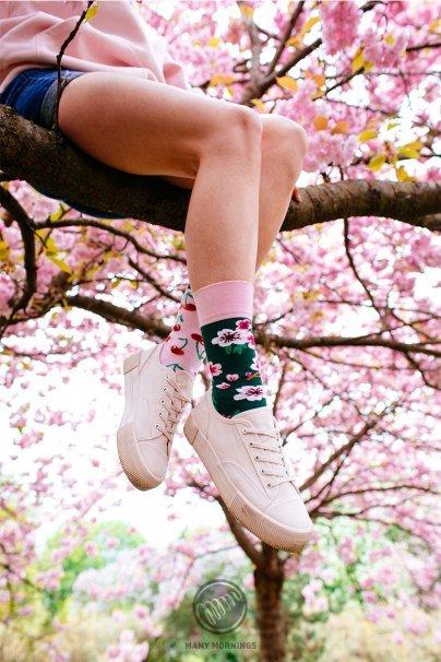 ponozky Farebné ponožky Cherry Blossom - Many Mornings