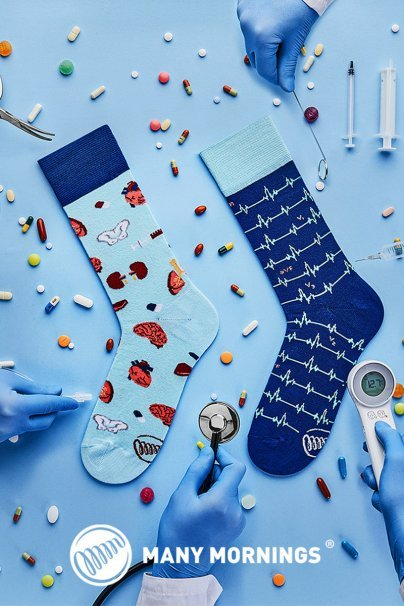 skarpetki Farebné ponožky dr Sock - Many Mornings