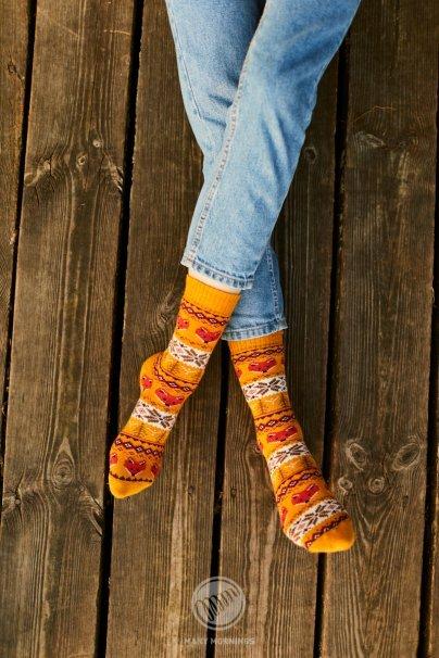 ponozky Farebné ponožky Warm Fox (teplé) - Many Mornings