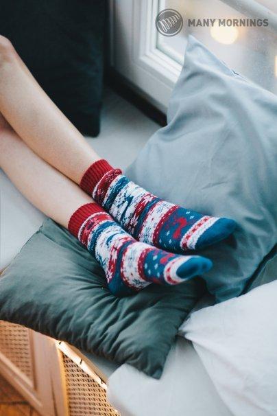 skarpetki Farebné ponožky Warm Rudolph (teplé) - Many Mornings