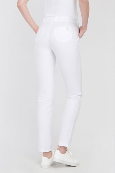 kalhoty-1-1 Lekárske nohavice Vena Cindy Slim biele