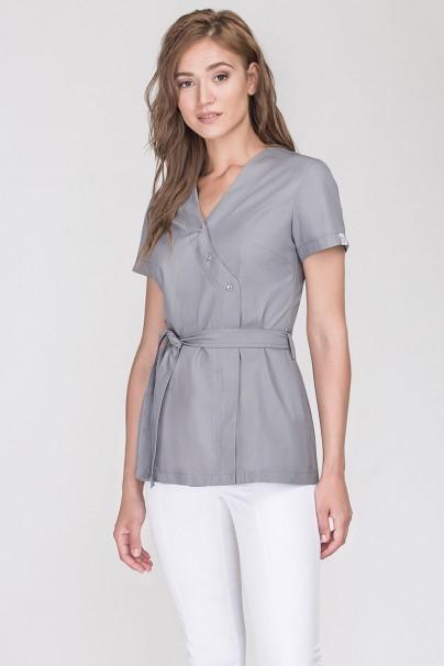 bluzy-2 Zdravotnická zástěra na zapínání Emma šedá