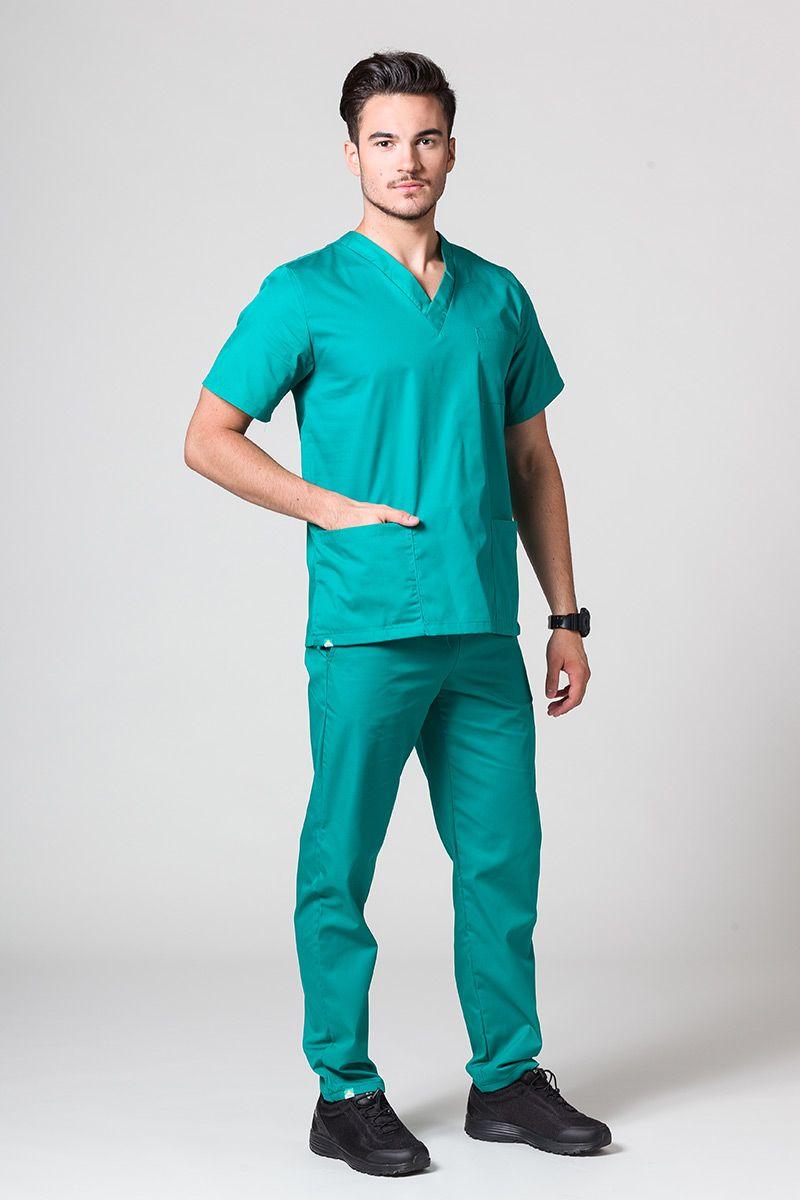 Pánský zdravotnický komplet Sunrise Uniforms zelený
