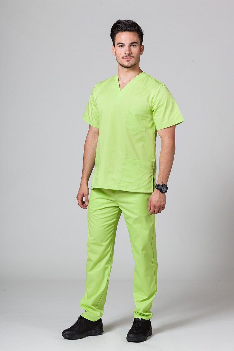 Pánský zdravotnický komplet Sunrise Uniforms limetkový