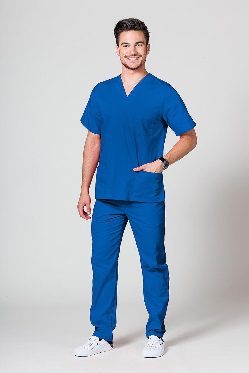 Pánský zdravotnický komplet Sunrise Uniforms královský modrý