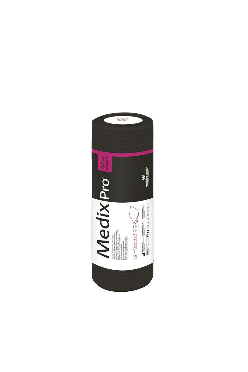 Černé jednorázové podložky se spodní vrstvou fólie 33x50 cm (50 ks na roli)