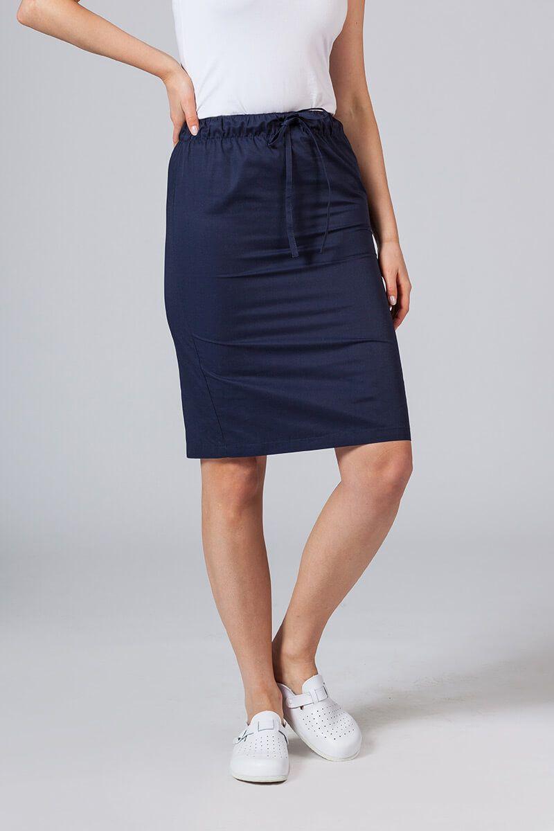 Dlouhá zdravotnická sukně Sunrise Uniforms námořnická modř