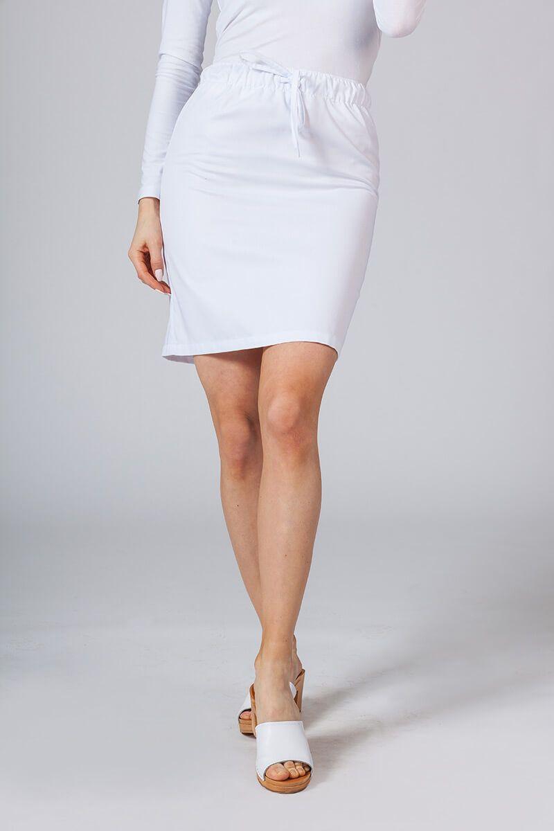 Krátka zdravotnícka sukňa Sunrise Uniforms biela