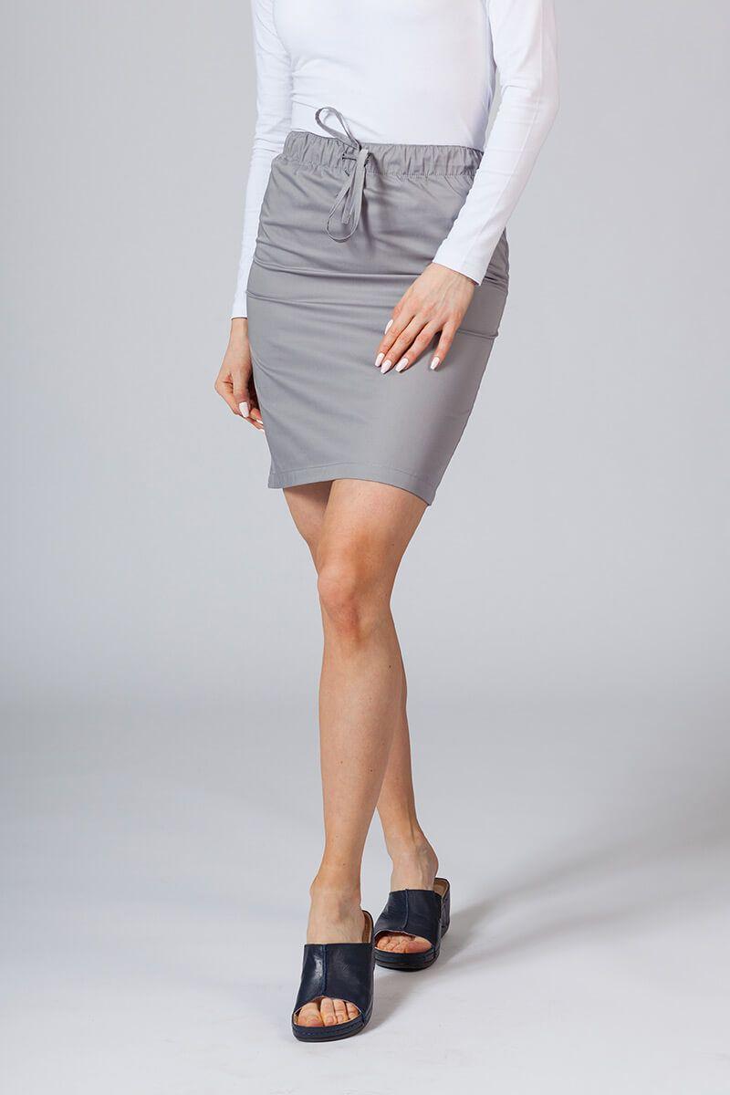 Krátká zdravotnická sukně Sunrise Uniforms šedá