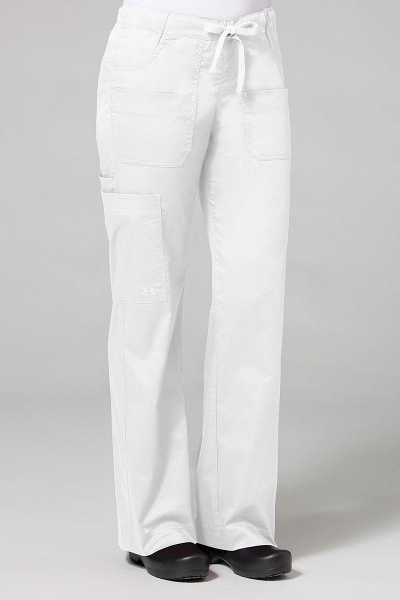 Lékařské kalhoty Maevn Blossom (elastic) bílé