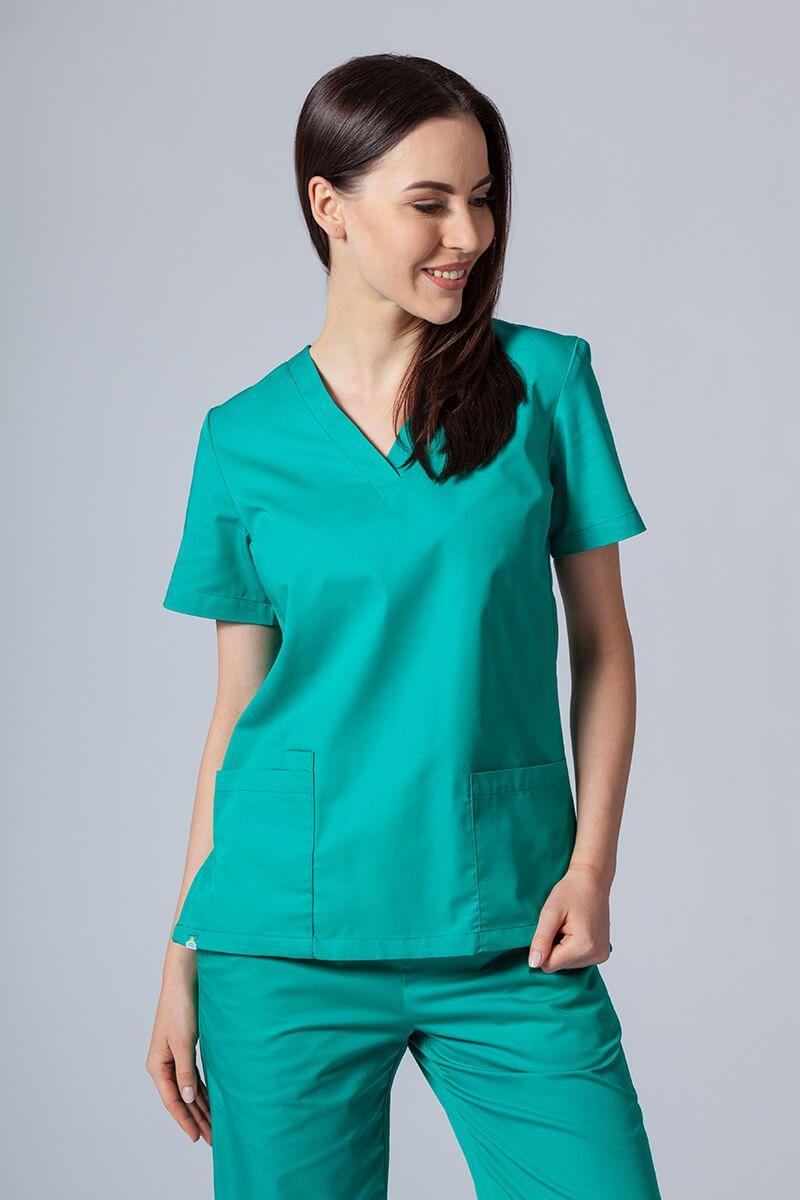 Lékarská blúzka Sunrise Uniforms zelená
